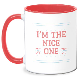 I'm The Nice One Mug - White/Red