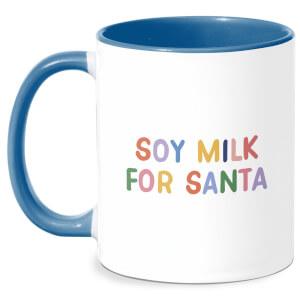 Soy Milk For Santa Mug - White/Blue