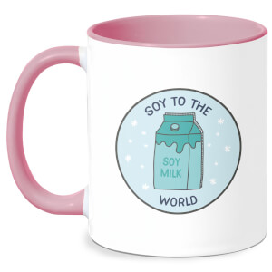 Soy To The World Mug - White/Pink