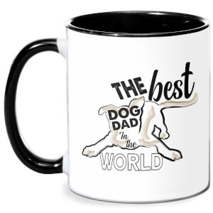 Dog Dad Mug - White/Black