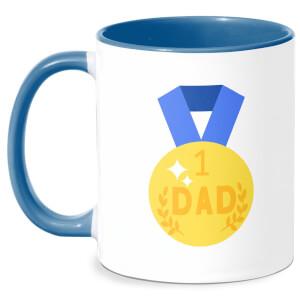 Dad Medal Mug - White/Blue