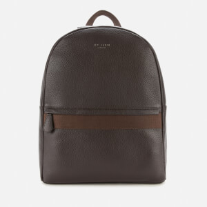 Ted Baker Men's Rickrak Webbing Strap Leather Backpack - Chocolate