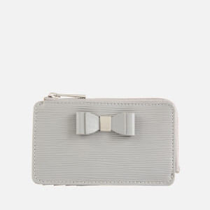 Ted Baker Women's Blueb Bow Detail Card Holder - Mid Grey