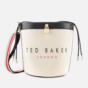 Ted Baker Women's Jettia Canvas Padlock Detail Bucket Bag - Black