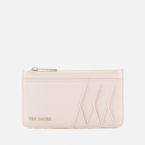 Ted Baker Women's Kennet Diagonal Zipped Credit Card Holder - Baby Pink