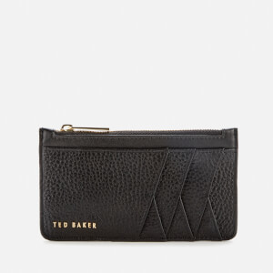 Ted Baker Women's Allexaa Diagonal Zipped Credit Card Holder - Black