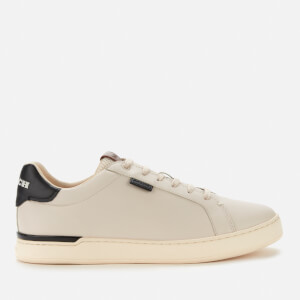 Coach Men's Lowline Leather Cupsole Trainers - Chalk/Black