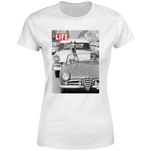 LIFE Magazine Dog In A Car Women's T-Shirt - White