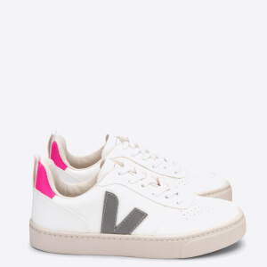 Veja Kids' V-10 Trainers - White/Oxford Grey/Sari