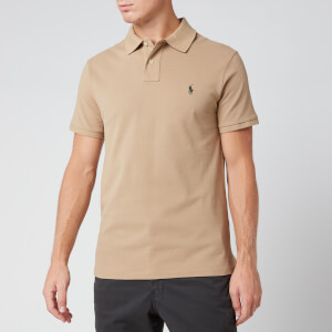 Polo Ralph Lauren Men's Slim Fit Mesh Polo Shirt - Boating Khaki