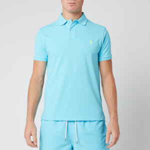 Polo Ralph Lauren Men's Slim Fit Mesh Polo Shirt - French Turquoise