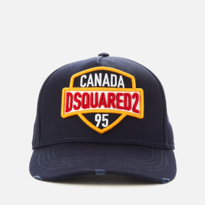 Dsquared2 Men's Patch Embroidered Cap - Navy