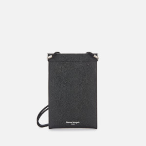 Maison Margiela Men's Leather iPhone Pouch Case - Black
