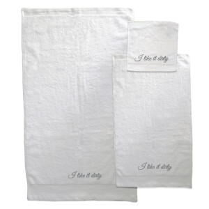I Like It Dirty Towel Bundle - White