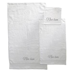 Nice Bum Towel Bundle - White