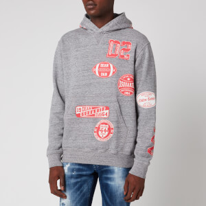 Dsquared2 Men's Cool Fit Pop Over Hoodie - Dark Grey Melange