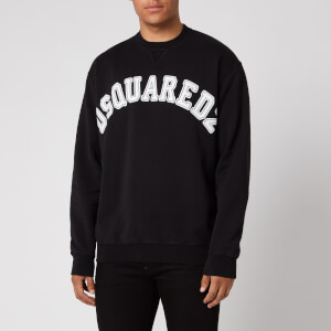 Dsquared2 Men's College Fit Arch Logo Sweatshirt - Black