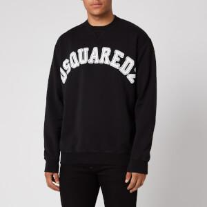 Dsquared2 Men's College Fit Arch Logo Sweatshirt - Black