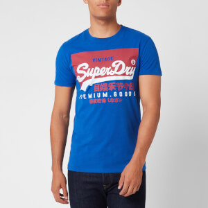 Superdry Men's Premium Goods T-Shirt - Mazarine Blue