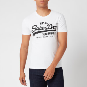 Superdry Men's Embroidered Logo T-Shirt - Optic