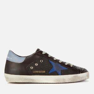 Golden Goose Deluxe Brand Women's Superstar Net/Leather Trainers - Black/Bluette/Powder