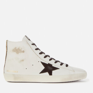 Golden Goose Deluxe Brand Men's Francy Leather Hi-Top Trainers - White/Black/Camouflage