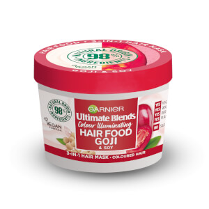 Garnier Ultimate Blends Hair Food Goji 3-in-1 Hair Mask Treatment for Coloured Hair 390ml