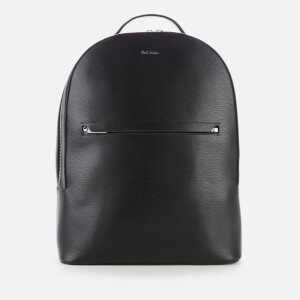 PS Paul Smith Men's Embossed Leather Backpack - Black