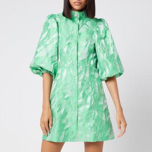 Ganni Women's Jacquard Mini Dress - Island Green