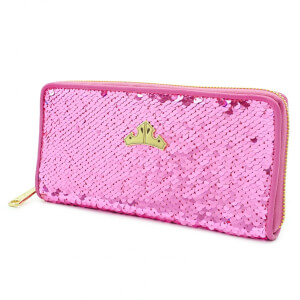 Loungefly Disney Sleeping Beauty Reversible Sequin Zip Around Purse