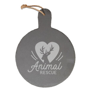 Animal Rescue Engraved Slate Cheese Board