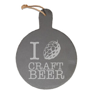 Craft Beer Engraved Slate Cheese Board