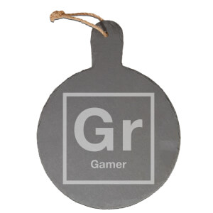 Periodic Gamer Engraved Slate Cheese Board