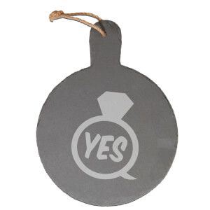 Yes Ring Engraved Slate Cheese Board
