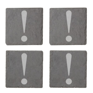 ! Engraved Slate Coaster Set