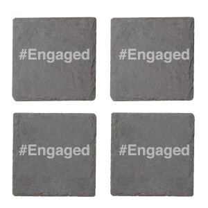 #Engaged Engraved Slate Coaster Set