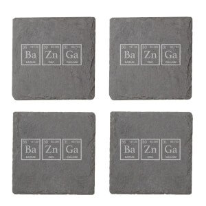 Bazinga Engraved Slate Coaster Set from I Want One Of Those