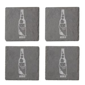 Beer'd Engraved Slate Coaster Set