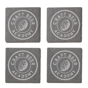 Craft Beer Academy Engraved Slate Coaster Set