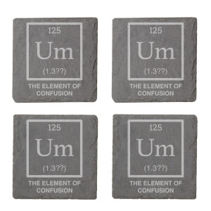Element Of Confusion Engraved Slate Coaster Set