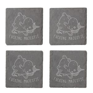 Fucking Majestic Engraved Slate Coaster Set