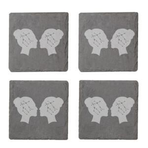 Gemini Engraved Slate Coaster Set