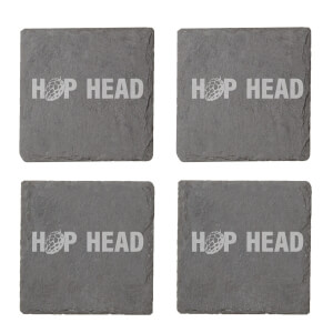 Hop Head Engraved Slate Coaster Set