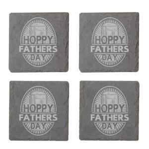 Hoppy Fathers Day Engraved Slate Coaster Set