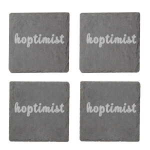 Hoptimist Engraved Slate Coaster Set