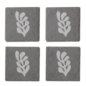 Shape Engraved Slate Coaster Set