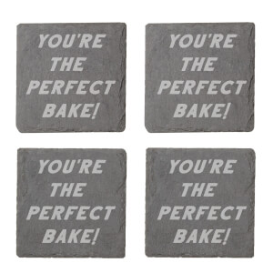 You're The Perfect Bake Engraved Slate Coaster Set