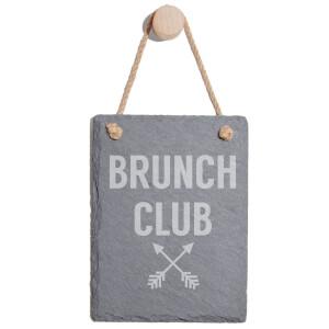 Brunch Club Engraved Slate Memo Board - Portrait