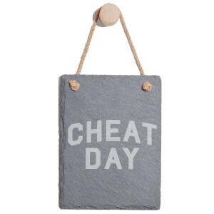 Cheat Day Engraved Slate Memo Board - Portrait