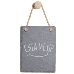 Chia Me Up Engraved Slate Memo Board - Portrait